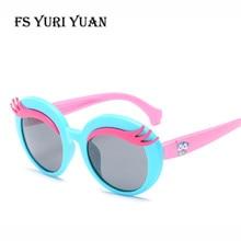 0f1a704dd8f FS YURI YUAN Kids Polarized Sunglasses TR90 Elliptical Cartoon Boys Girls  Sunglasses 3-10 Years Old Children s Glasses 3446