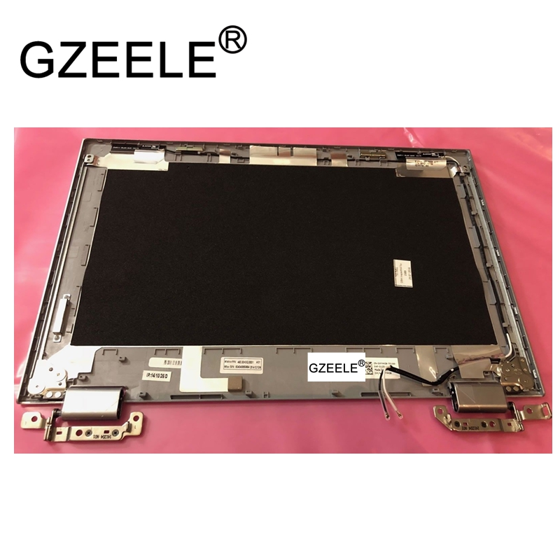 GZEELE NEW For Dell Inspiron 11 3147 3148 11-3147 11.6 LCD BACK COVER Lid Top Cover Panel W/Hinges PV73D XYWC8 Silver case gzeele new for dell for vostro 3360 v3360 p32g lcd back cover top rear lcd lid cover case silver 00nxwd