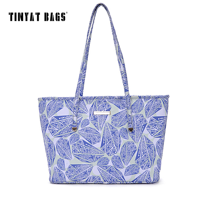 TINYAT 2017 Handbag Large Capacity Casual Women Handbag lady's Bag Quality Travel Shoulder Bags For Girl Black Blue Yellow Y501