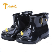 TWINSBELLA Waterproof Child Rain Boots Jelly Soft Shoe Girl Boots Baby RainBoots Kids With Rhinoceros Girls Children Rain Shoes