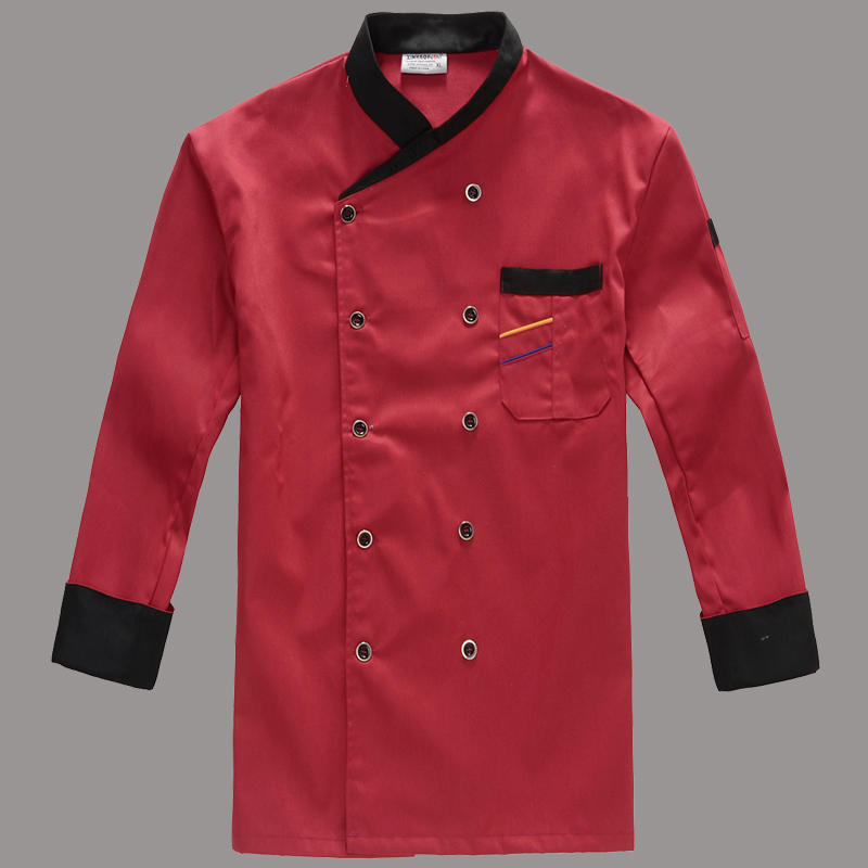 Winter And Autumn Restaurant Coffee Bar Man Man Chef Jacket Long Sleeve Cook Kit Workwear Classical Chef Clothing