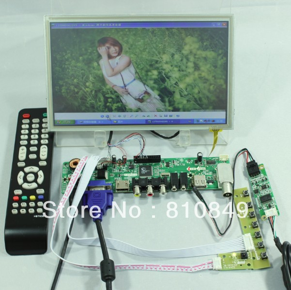TV/HDMI/VGA/AV/USB/AUDIO LCD controller Board+8.9inch N089L6-L03 lcd+Touch panel цена