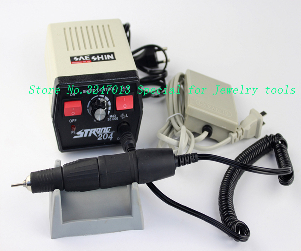Polishing Motor Set Korean Type Micromotor Strong 204 Korea micromotor, goldsmith tools engraver 102 handpiece original strong 204   90 micromotor
