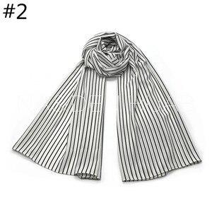 Image 4 - NEW chiffon striped print hijab scarf sea star pattern fashion women muslim hijabs islamic scarves shawls brand soft muffler