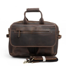 MK8032 Retro Crazy Horse Leather Handbag Leather Satchel bags computer bag male casual leather briefcase