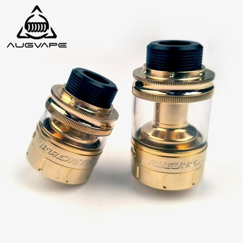 Augvape Boreas V2 RTA Atomizzatore 2.5 ml 5 ml Capacità Ad Angolo Upwords Flusso D'aria di Colore Dell'oro Vape Sigaretta Elettronica Serbatoio Atomizzatore