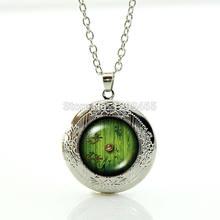 Médaillon porte verte du film en vogue 2015, collier avec pendentif, frodo sam gantalf seigneur du film de fantaisie bilbo, bijoux WNK136