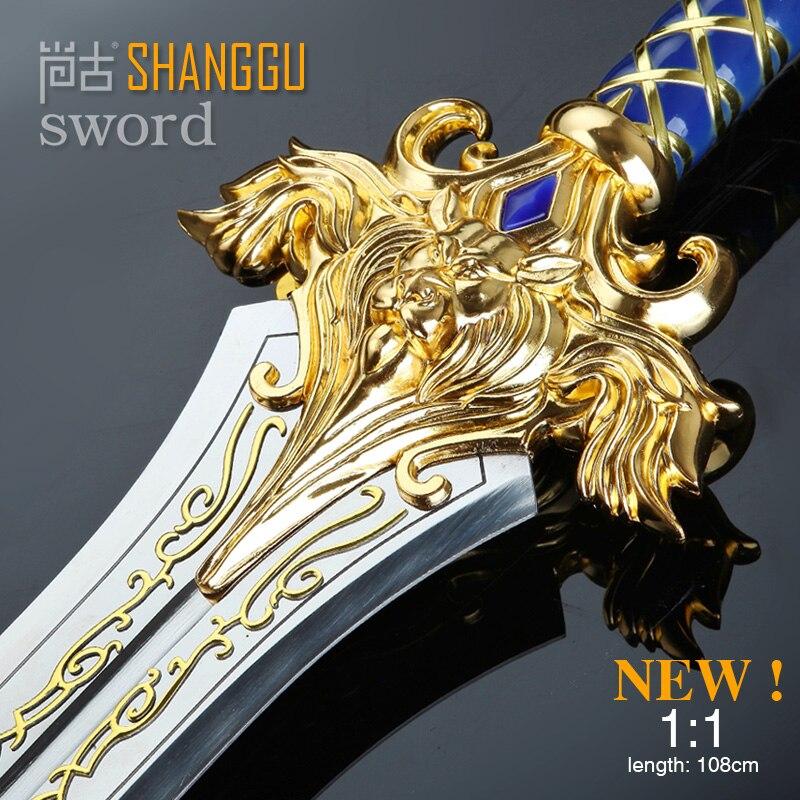 the film Llane Wrynn I King LLane Sword PVC Cosplay Prop The Alliance Stormwind