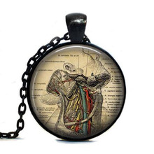 Human Anatomy Necklace Throat anatomy gothic doctor Pendant Necklace jewelry chain science student biology student medical gift
