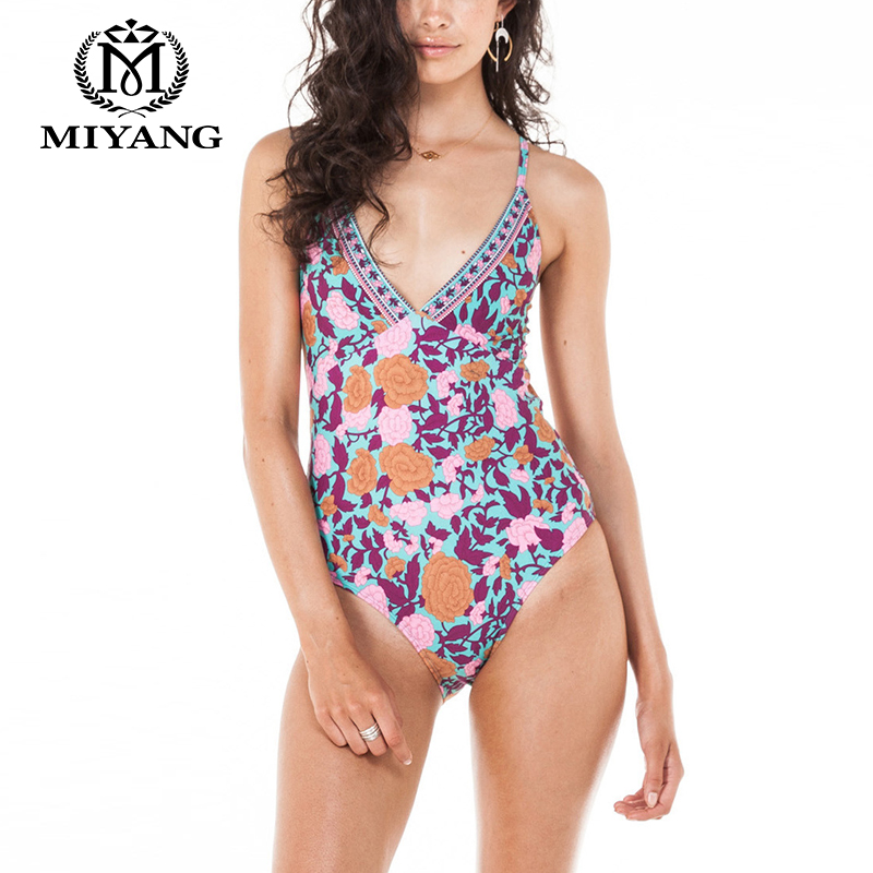 40ff14a0f1 2017New Swimming Suit For Women Black One Piece Swimsuit Digital Printing  Pattern Suspenders Swimwear Bikini adjustable Size136-in One-Piece Suits  from ...