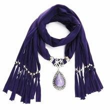 Женский шарф ожерелье lureme украшение из бисера в виде капли