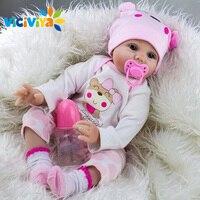 VICIVIYA 22 Realistic Handmade Reborn Baby Dolls Girl Newborn Gifts Lifelike Soft Vinyl Simulation Mothers Accompany