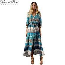 HANCI ROSI Dress Women Robe Femme Women Dress Jurken Vestido Sexy Robes Vestidos Boho Dress Bohemian Loose Streetwear цена