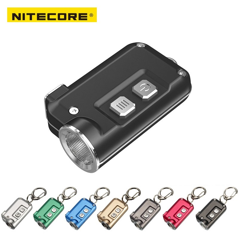 NITECORE TINI USB Rechargeable mini Flashlight CREE XP-G2 S3 max.360 lumen mini keychain light for EDC light + Built-in Battery app remote control 720p wifi video door phone