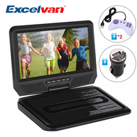 Excelvan 9 Inch Portable DVD Player Digital Multimedia Player Support USB SD TV CD Speaker VCD DVCD MP4 Within 64 Kinds Of Game
