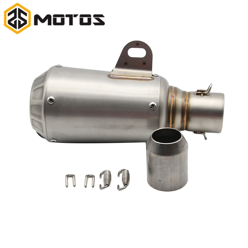 ZS MOTOS Universal Motorcycle Exhaust Modified Scooter Ak Exhaust Muffler Fit Most Motorcycle For Z800 CBR1000 CBT TMAX CB
