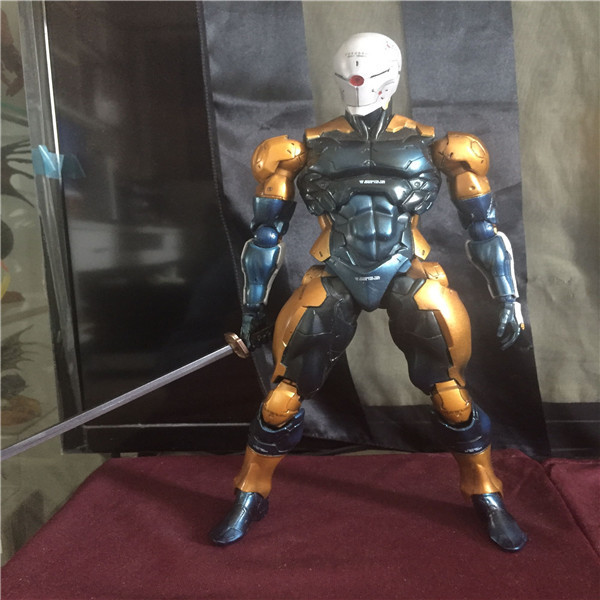 Play Arts Kai Solidus Snake Gray Fox Metal Gear Solid Cyborg Ninja PA 27cm PVC Action Figure Doll Toys Kids Gift Brinquedos metal gear solid v the phantom pain play arts flaming man action figure super hero