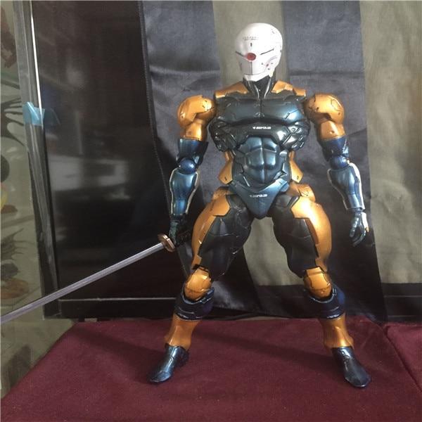 Play Arts Kai Solidus Snake Gray Fox Metal Gear Solid Cyborg Ninja PA 27cm PVC Action Figure Doll Toys Kids Gift Brinquedos