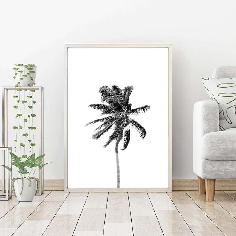 Palm Tropical Leaf Wall Art Print Living Room Decoration
