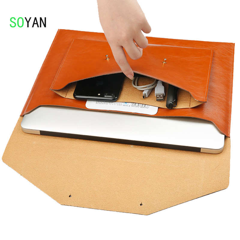 laptop bag Microfiber Leather Soft Sleeve Bag Case For Apple Macbook Air Pro Retina 13 Ultrabook bag For Macbook 13.3 inch