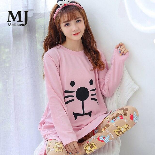 406af96816 MJ033A Pink Pajamas Pigiama Donna Night Suit Sleepwear Pyjamas Women Pyjama  Femme Pijama Feminino Primark Pajamas