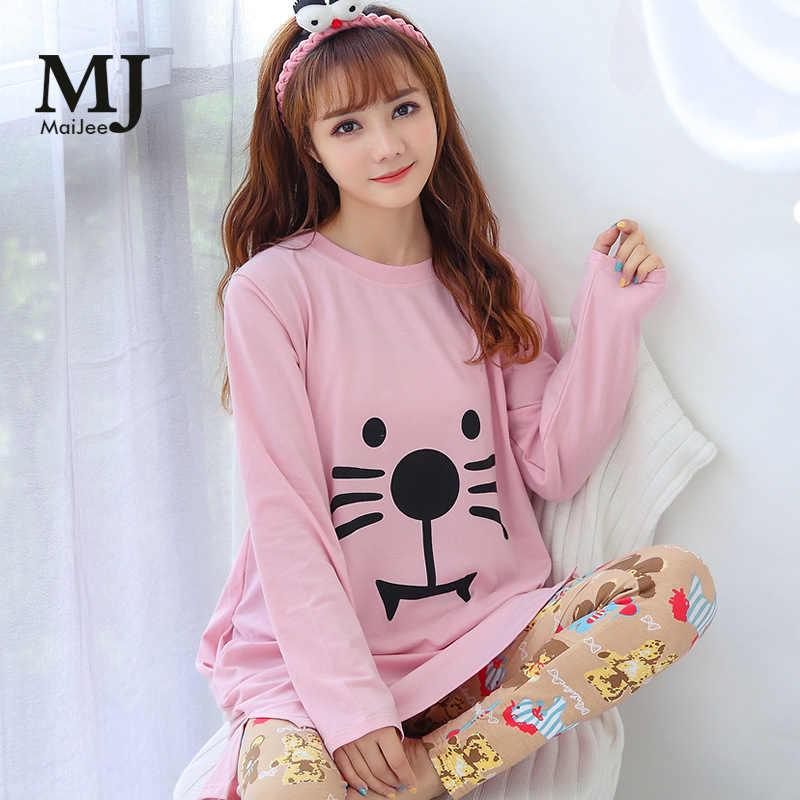 original de premier ordre 2019 real toujours populaire MJ033A Pink Pajamas Pigiama Donna Night Suit Sleepwear Pyjamas Women Pyjama  Femme Pijama Feminino Primark Pajamas Pijamas Mujer
