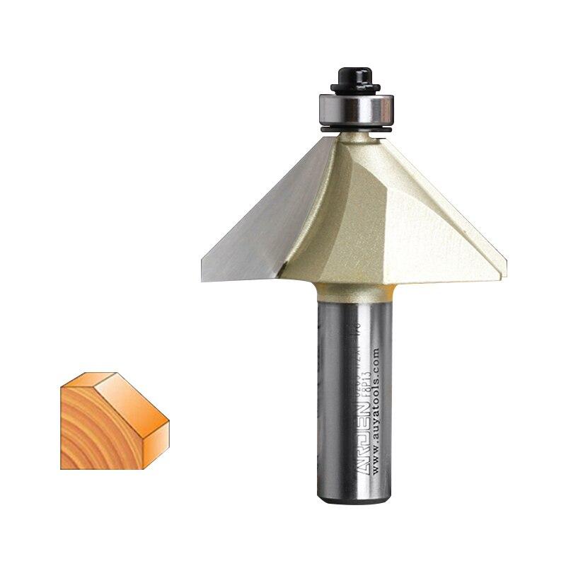 Fresas para router Holzbearbeitung Werkzeuge 45 Grad Fase Arden Router Bit - 1/4*1/4 - 1/4