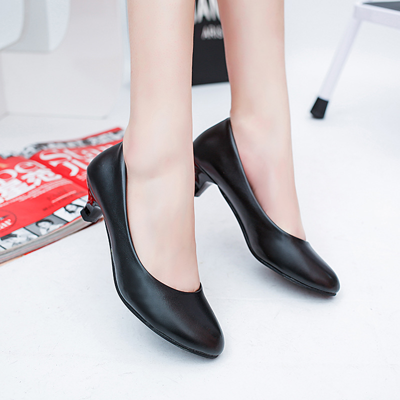 De Femmes Avec 2018 Bouche Le Profonde Cuir Mode Chaussures Confort La Pente Peu Véritable 2 1 Boucle Plus Printemps Taille En Côté xqX8CYq