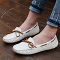Hot Shoes Women Soft Bottom Slip on Women Flats Moccasins Genuine Leather Flat Shoes Women Ballet Flats Women Loafer