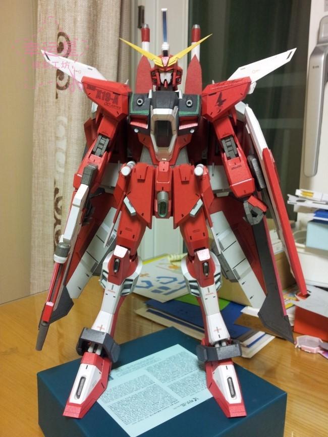 Rapport positif série Gundam ZGMF-X19 Agundam Gundam papier 3D modèle bricolage manuel