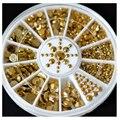 5 Sizes 1.5/2.0/2.5/3.0/4.0/5.0MM Nail Art Decoration Metallic Studs Gems Wheel decorative stone for gel nail polish tips