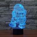 3D R2D2 Novidade Iluminação Grande Noturna com Brilho Suave para As Crianças belos Presentes para A Mamã e Incrível Mesa Candeeiros De Mesa para O Pai