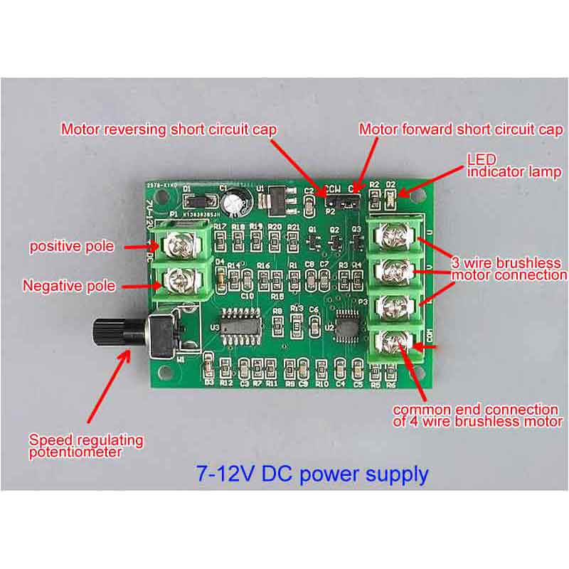 все цены на Micro DC brushless motor driver Speed control board Optical drive hard disk motor controller 7V-12V