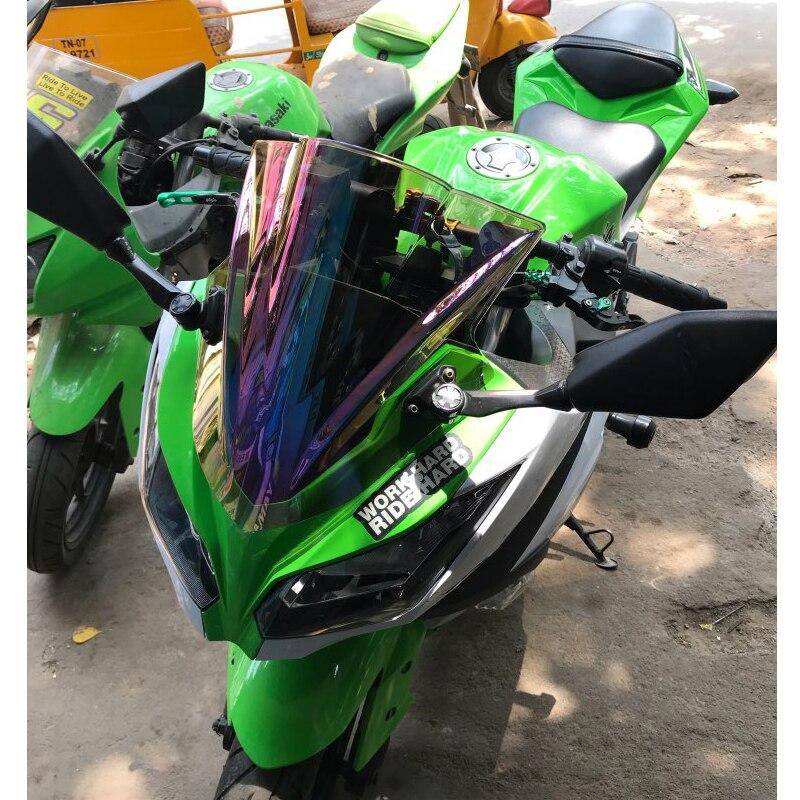 Motorcycle Double Bubble Windshield WindScreen Screen For 2013 2014 2015 2016 Kawasaki Ninja 300 300R EX300 EX A B Black Iridium