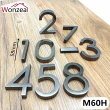 0123456789 Современный серый цвет табличка номер двери дом письмо отель Адрес двери стикер с цифрами табличка знак ABS пластик