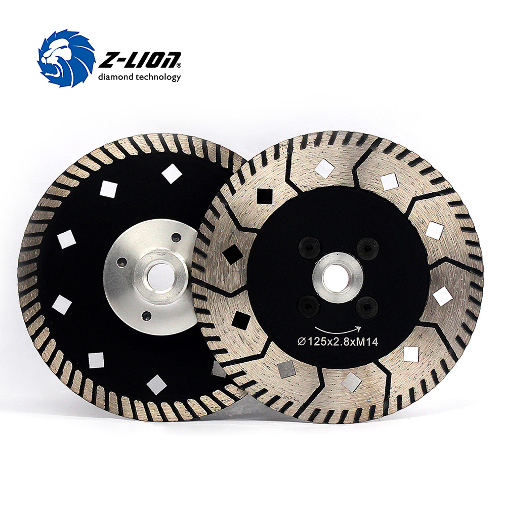 Z LION 125mm 2pcs Diamond Cutting Wheel Two Side Design Grinding Disc For Granite Marble Stone