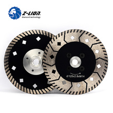 Z-LION 125mm 2pcs Diamond Cutting Wheel Two Side Design Grinding Disc For Granite Marble Stone Tile Multitool Diamond Tools