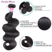 Lynlyshan Hair Peruvian Body Wave Hair Factory Direct Sale Remy Human Hair Weaves Tangle Free Full Cuticle Aligned 3 Bundles