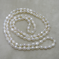 Charming Women Gift long pearl necklace 40inchs 8 9mm White Genuine freshwater pearl necklace Hot sale jewelry New Free shipping