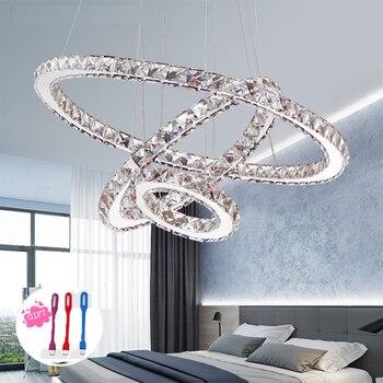 Luces De Techo Led De Montaje Empotrado | Moderna Lámpara De Araña De Cristal LED Para Sala De Estar Candelabros De Cristal Lustre Iluminación Colgante Accesorios De Techo