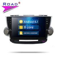 Roadlover Car Autoradio Player Android 8.1 GPS Navigation Auto 2 Din Car Radio For Toyota Highlander 2009 2014 Stereo Head Unit