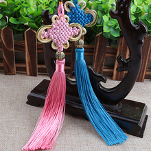 Decorative Chinese Knots Pendants 100 pcs / lot New Year Gifts Red Tassel Fringe Craft Mini Tassels Home Decorations