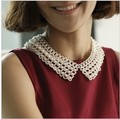 Min. order $9(mix order)  Fashion Vintage Handmade Knitted Simulated-pearl False Collar Accessories Collar