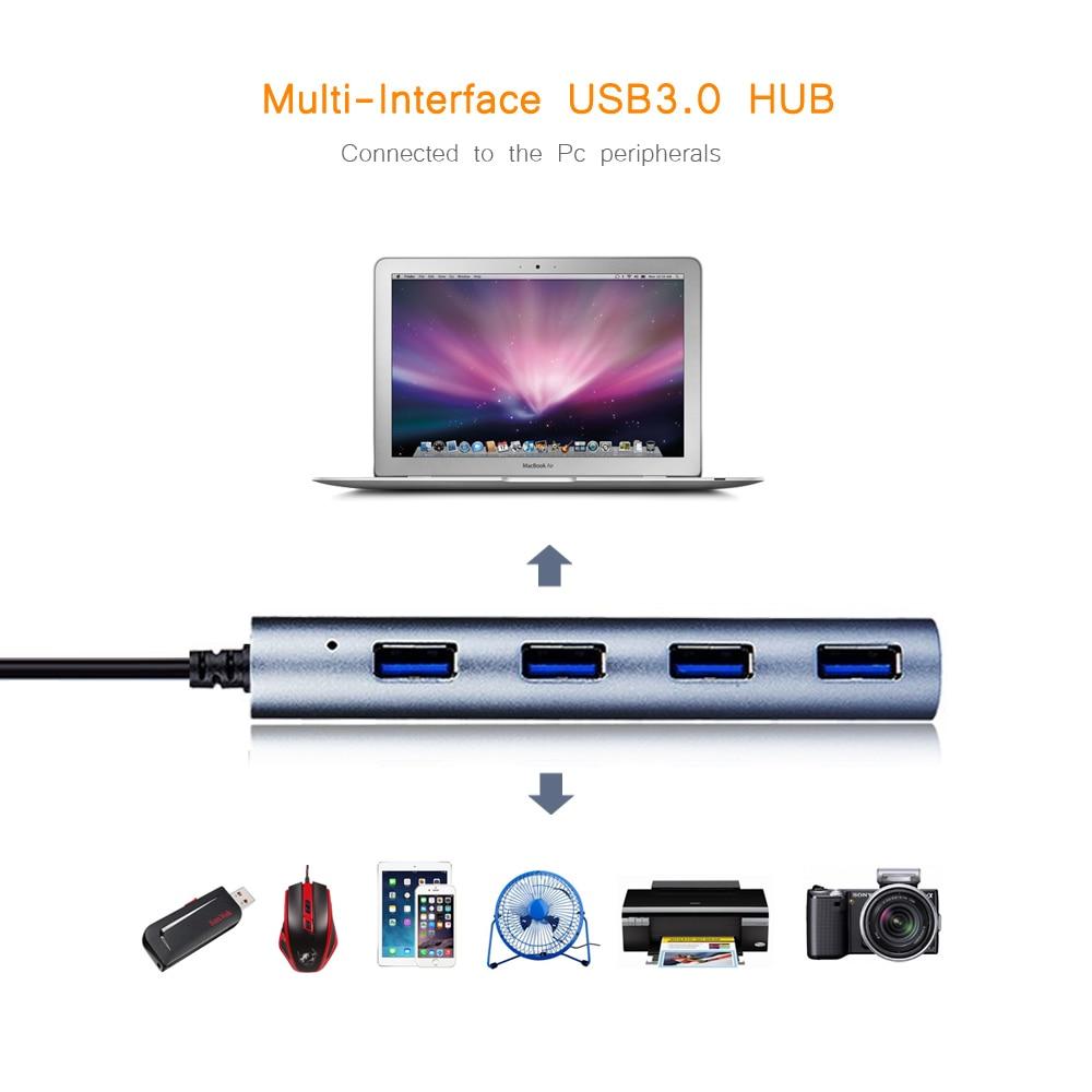 Wavlink Mini Portable Super Speed 4 Ports 5.0Gbps USB 3.0 - Համակարգչային արտաքին սարքեր - Լուսանկար 5