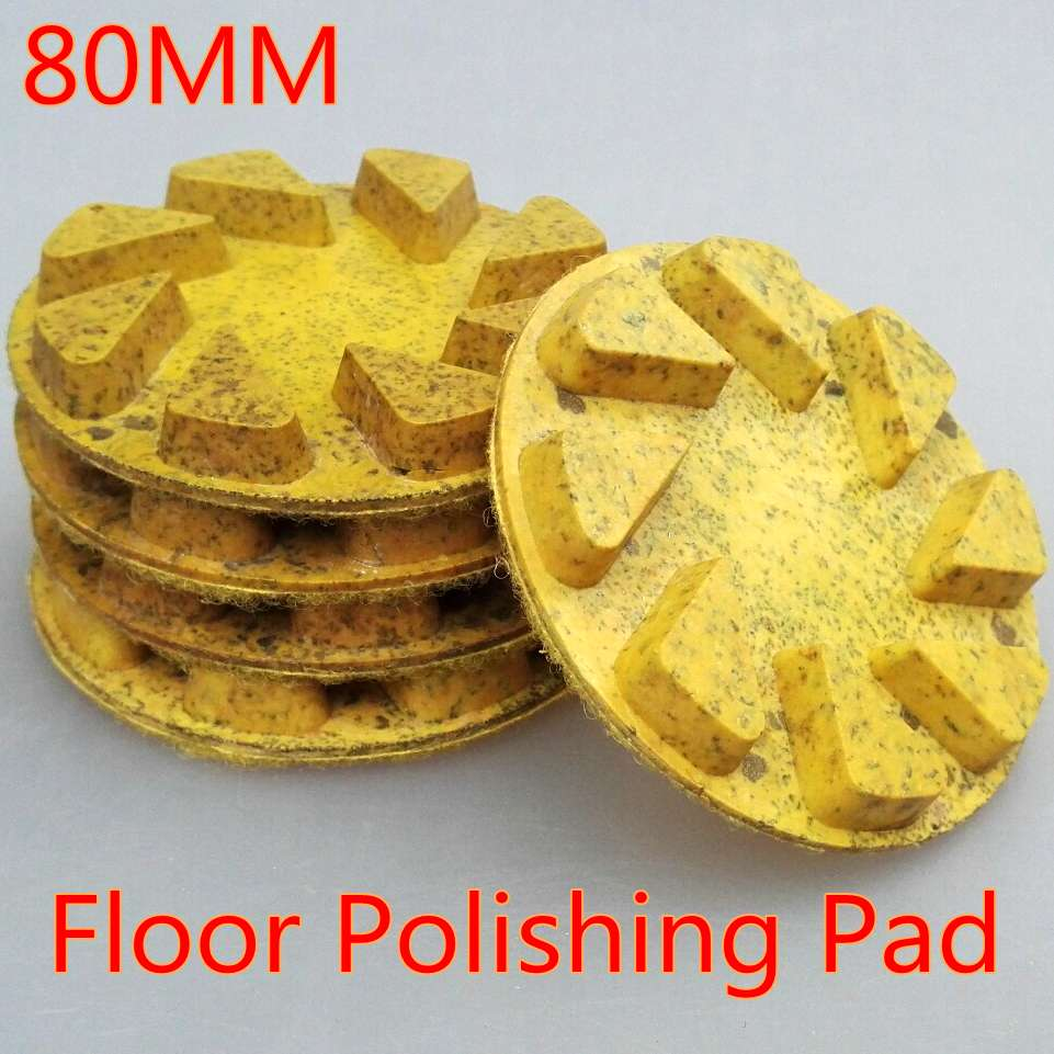 FINGLEE 3 pcs/lot 80mm Wet Floor polishing pad 3 inch Cooper Bond polishing Wheel Aggressive for granite,Marble,Stone