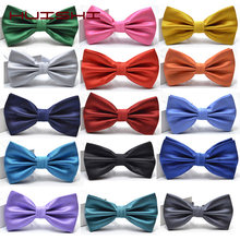 HUISHI Polyester Men Bow tie Fashion Wedding Party Men Women Solid Color Cravat Butterfly Polyester Bowtie Male Dress Shirt Gift