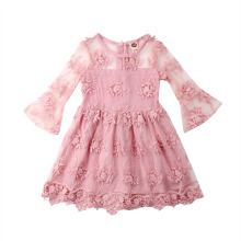 2019 Girls Dresses for Wedding Party Birthday Kids Clothing Girls Princess Dress Floral Lace Tutu Dresses Girls Children Clothes