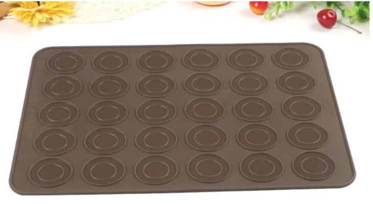 Hot Koop Siliconen Makaron Gebak Oven Bakvorm Sheet Mat 30-Holte DIY Schimmel Bakken Mat Nuttig gereedschap