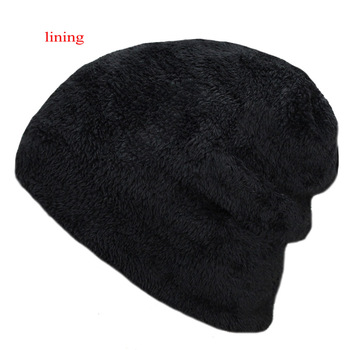 Knitted black hats Fall Hat Thick and warm and Bonnet Skullies Beanie Soft Knitted Beanies Cotton 4