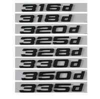 Black 316d 318d 320d 325d 328d 330d 335d Car Emblem Emblems Rear Number Letters Badges for BMW 3 series E90 E46 E91 E92 E93 F30
